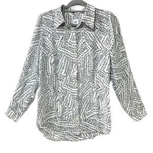 CAbi Swing Back Button Down Blouse